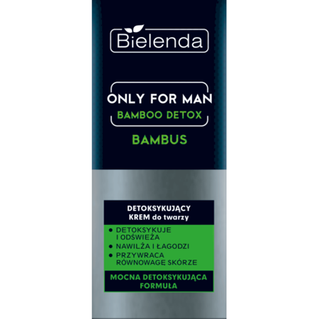 Bielenda Only for Man Bamboo Detox Krem do twarzy detoksykujący  50ml